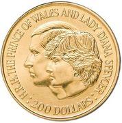 200 Dollars - Elizabeth II (Charles and Diana Royal Wedding) -  revers