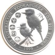2 Dollars - Elizabeth II (Australian Kookaburra) -  revers
