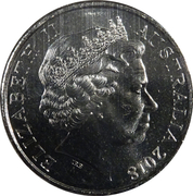 20 Cents - Elizabeth II (Anzac Spirit - Knowledgeable) – avers