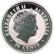 50 Cents - Elizabeth II (Year of the Dog; Colorized) – avers