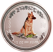 50 Cents - Elizabeth II (Year of the Dog; Colorized) – revers