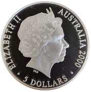 "5 Dollars - Elizabeth II ""Sydney 2000 Series"" Silver Bullion Coinage -  avers"