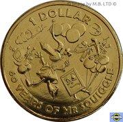 1 Dollar - Elizabeth II (Mr Squiggle 60 Years) -  revers