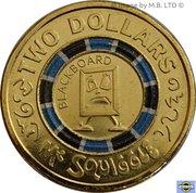 2 Dollar - Elizabeth II Mr Squiggle 60 Years -  revers