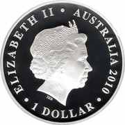 1 Dollar - Elizabeth II (Australian Centenary of Flight) -  avers