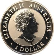 1 Dollar - Elizabeth II (Silver Bullion Coinage - Australian Wedge-Tailed Eagle) -  avers