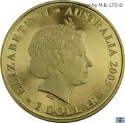 1 Dollar - Elizabeth II (4e portrait, l'image indigène de Kangaroo) -  avers