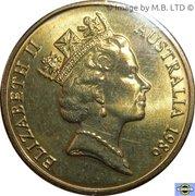 1 dollar - Elizabeth II (Année internationale de la paix) -  avers