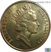 1 dollar - Elizabeth II (Bicentenaire de l'Australie) -  avers