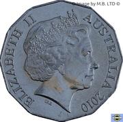 50 Cents - Elizabeth II (Australia Day) -  avers