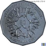50 cents - Elizabeth II (Jour de l'Australie) -  revers