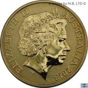 1 Dollar - Elizabeth II (4th portrait; Black Caviar) -  avers