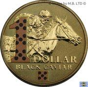 1 Dollar - Elizabeth II (4th portrait; Black Caviar) -  revers
