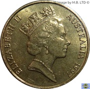 1 dollar Charles Kingsford Smith (cuivre-aluminium-nickel) -  avers