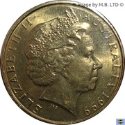 1 dollar - Elizabeth II (Année des personnes âgées) -  avers
