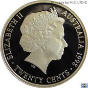 20 Cents - Elizabeth II (Masterpiece in Silver - 1938 Florin) -  avers