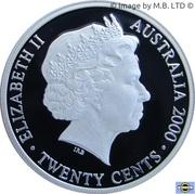 20 Cents - Elizabeth II (Masterpieces in Silver) -  avers