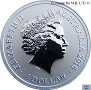 1 Dollar - Elizabeth II (4th portrait; Letter F) -  avers
