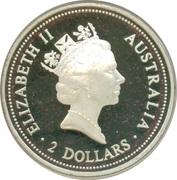 2 Dollars - Elizabeth II (Australian Kookaburra - Spade Guinea) -  avers