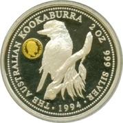 2 Dollars - Elizabeth II (Australian Kookaburra - Sovereign of King Edward VII,) -  revers