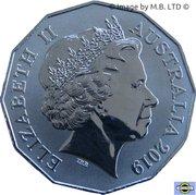 50 Cents - Elizabeth II (International Year of Indigenous Languages) -  avers