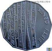 50 Cents - Elizabeth II (International Year of Indigenous Languages) -  revers