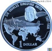 1 Dollar - Elizabeth II (Sir Charles Kingsford Smith) -  revers