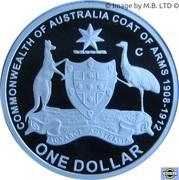 1 Dollar - Elizabeth II (Coat of Arms) – revers