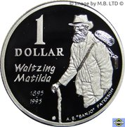 1 Dollar - Elizabeth II (4th portrait; Waltzing Matilda) – revers