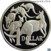 1 Dollar - Elizabeth II (Mob of Roos) Silver Proof – revers