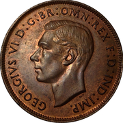 1 Penny - George VI -  avers