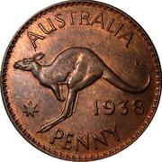 1 Penny - George VI -  revers