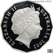 50 Cents - Elizabeth II (Golden Jubilee) -  avers