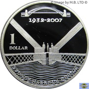1 Dollar - Elizabeth II (Sydney Harbour Bridge) Silver Proof -  revers