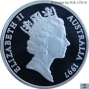 1 Dollar - Elizabeth II (Sir Charles Kingsford Smith) – avers