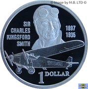 1 Dollar - Elizabeth II (Sir Charles Kingsford Smith) – revers