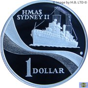 1 dollar HMAS Sydney II (argent) -  revers