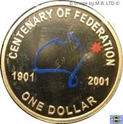 1 Dollar - Elizabeth II (Federation) -  revers