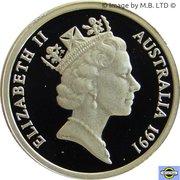 2 Dollars - Elizabeth II (3rd portrait; Aboriginal Man) -  avers