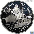 50 Cents - Elizabeth II (First Fleet) – revers