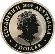1 Dollar - Elizabeth II (The Australian Silver Swan) -  avers