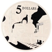5 Dollars - Elizabeth II (Steam Locomotive) – revers