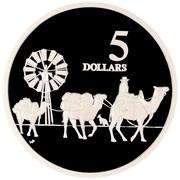 5 Dollars - Elizabeth II (Camel Pack Train) – revers