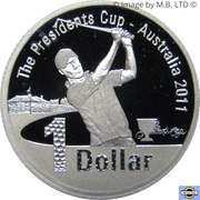 1 Dollar - Elizabeth II (Presidents Cup) Silver Proof -  revers