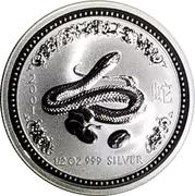 "50 Cents - Elizabeth II (""Lunar Year Series"" Silver Bullion Coinage) – revers"