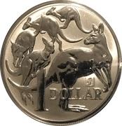 1 Dollar - Elizabeth II (Mob of Roos Silver Bullion Coinage) -  revers