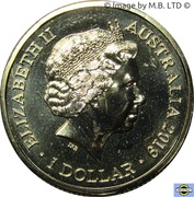 1 Dollar - Elizabeth II (Treaty of Versailes) – avers