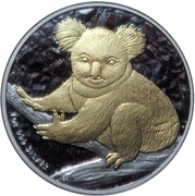 "1 Dollar - Elizabeth II (""Koala""; Gilded Edition) -  revers"