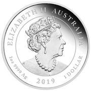1 Dollar - Elizabeth II (Moon Landing) -  avers