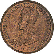 ½ Penny - George V -  avers